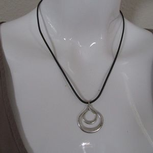 Fossil Leather Stainless Steel necklace